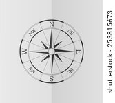 wind rose compass vector icon.... | Shutterstock .eps vector #253815673