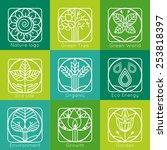 set of outline tree monograms... | Shutterstock .eps vector #253818397