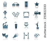 movie icon illustration | Shutterstock .eps vector #253822333