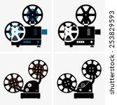 movie camera | Shutterstock .eps vector #253829593