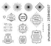 vector set of linear design... | Shutterstock .eps vector #253848337