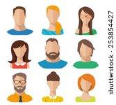 flat vector characters | Shutterstock .eps vector #253854427