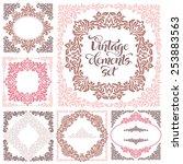 set of vintage ornate frames... | Shutterstock .eps vector #253883563