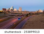 kansas city at twilight with no ... | Shutterstock . vector #253899013
