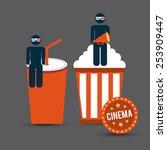 cinema concept design  vector... | Shutterstock .eps vector #253909447