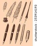 designer set of pens  pens and...   Shutterstock .eps vector #253914193