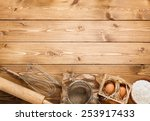 ingredients for baking... | Shutterstock . vector #253917433
