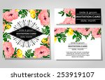 wedding invitation cards with... | Shutterstock .eps vector #253919107