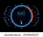 realistic sports car speedometer   Shutterstock . vector #253964227