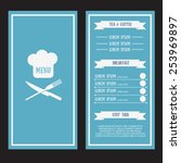 abstract vector menu template... | Shutterstock .eps vector #253969897