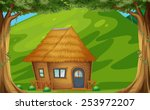 illustration of a wood cabin in ...   Shutterstock .eps vector #253972207