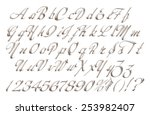alphabets in silver on isolated ... | Shutterstock . vector #253982407