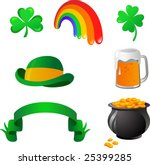 st patrick's day   vector icons ...