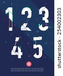 vector graphic numbers in a set.... | Shutterstock .eps vector #254002303