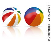 colorful beach ball | Shutterstock .eps vector #254019517
