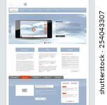 website template. vector... | Shutterstock .eps vector #254043307