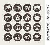 house icon set | Shutterstock .eps vector #254049757