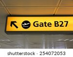 generic airport signage in... | Shutterstock . vector #254072053
