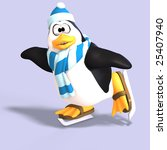male toon enguin with hat and... | Shutterstock . vector #25407940