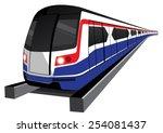 bangkok skytrain icon vector... | Shutterstock .eps vector #254081437