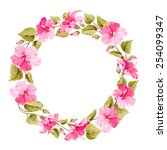 Floral Wreath For Vintage Labe...
