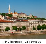 buda castle  landmark of old... | Shutterstock . vector #254104693