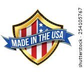 made in the usa   shield | Shutterstock .eps vector #254105767