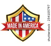 made in the usa   shield | Shutterstock .eps vector #254105797