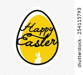 happy easter card | Shutterstock .eps vector #254115793