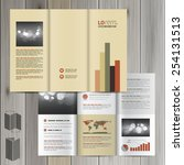 finance brochure template... | Shutterstock .eps vector #254131513