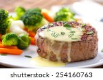 fillet of beef with b       ... | Shutterstock . vector #254160763