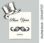 abstract vintage gentleman card.... | Shutterstock .eps vector #254169727