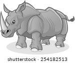 high quality rhinoceros vector...