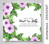 wedding invitation cards with... | Shutterstock .eps vector #254192347