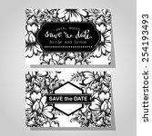 wedding invitation cards with... | Shutterstock .eps vector #254193493