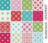 seamless patterns with... | Shutterstock .eps vector #254199697