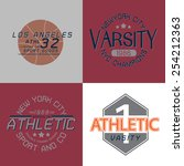 athletic graphic for t shirt... | Shutterstock .eps vector #254212363