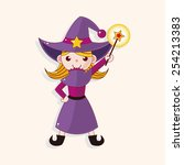 witch cartoon theme elements | Shutterstock .eps vector #254213383