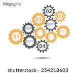 info graphic design template.... | Shutterstock .eps vector #254218603