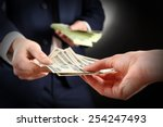 businessman giving money on... | Shutterstock . vector #254247493