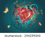 wedding and valentine greeting... | Shutterstock .eps vector #254259343