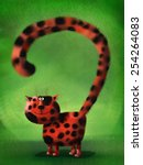 Funny Leopard Colored Kitten...