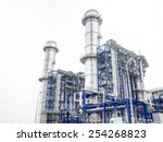 blurred industrial plant power... | Shutterstock . vector #254268823