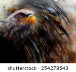 Постер, плакат: painting eagle with