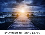 Old Wooden Jetty During Storm...