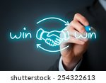 win win partnership strategy... | Shutterstock . vector #254322613