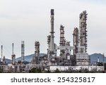 oil refinery plant at twilight... | Shutterstock . vector #254325817