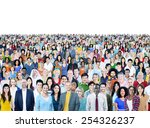 large group of diverse... | Shutterstock . vector #254326237