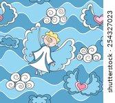 cartoon seamless pattern with... | Shutterstock .eps vector #254327023