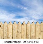Wooden Fence   On Sky Background